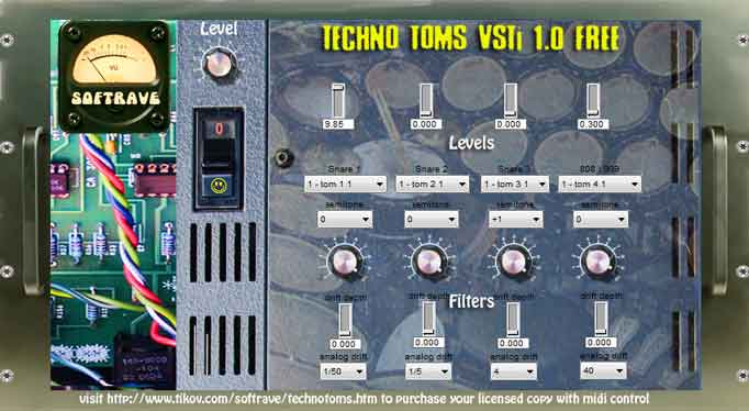 This virtual instrument have 512 toms sounds from various drum machines