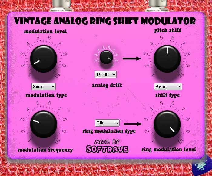 vintage analog ring shift modulator vst 1 1 guitar effect vsti synthesizers and vst plug ins. Black Bedroom Furniture Sets. Home Design Ideas